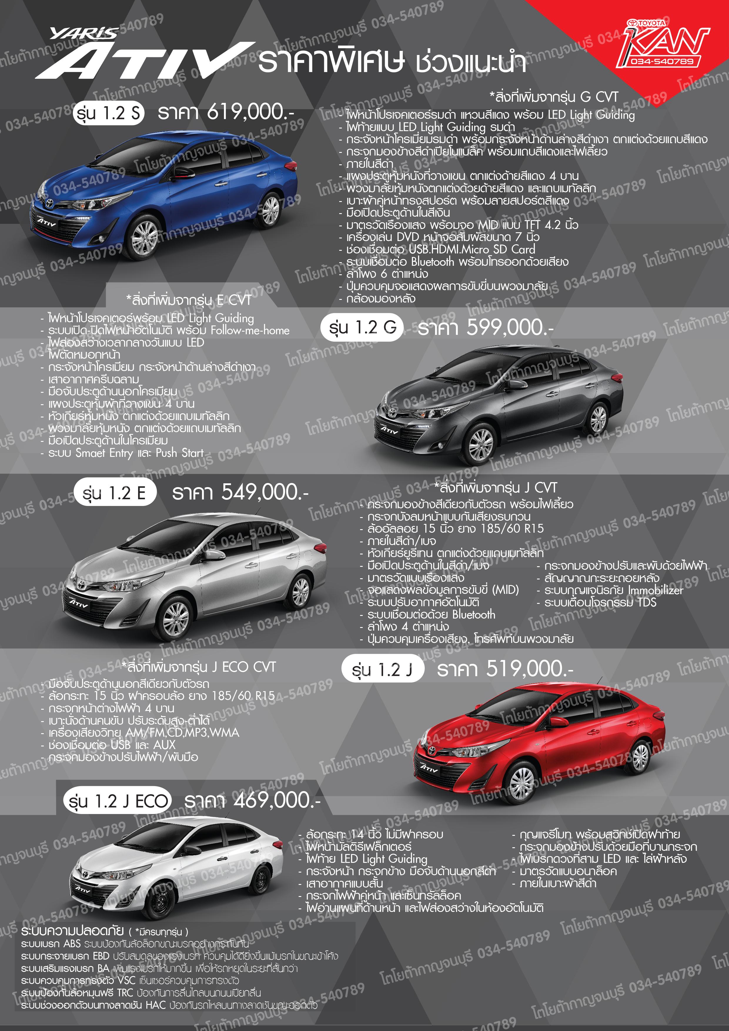yaris-ลายน้ำ รูปโฉมใหม่กับ Toyota Yaris ATIV 2017  !!