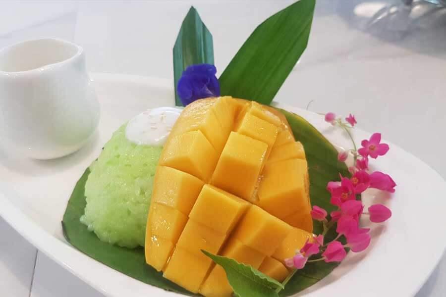 Mango-sticky-rice-H2-rivercafe ดื่มด่ำกับธรรมชาติ สูดอากาศสดชื่น ที่ H2 rivercafe