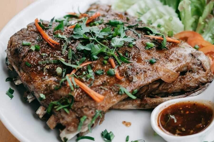 Spicy-Pork-Spare-Ribs-H2-rivercafe ดื่มด่ำกับธรรมชาติ สูดอากาศสดชื่น ที่ H2 rivercafe